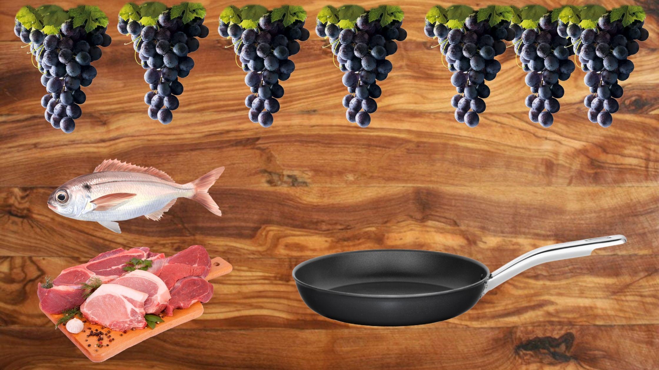 cocina con vino